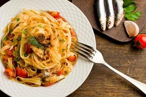 pasta med sardiner foto
