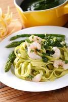 pasta med räkor foto