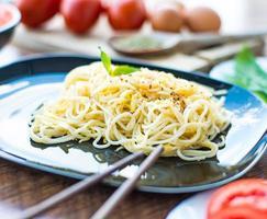 spagetti middag foto
