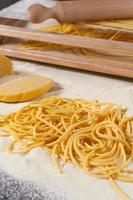 spaghetti alla chitarra pasta fesca foto