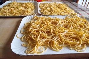 handgjord italiensk pasta foto