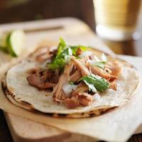 autentiska mexikanska taco foto