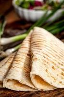 färska mexikanska tortillor foto