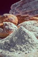 mjöl och bröd foto