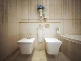 klassisk stil wc foto