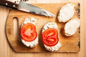 läckra smörgåsar foto
