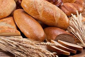 bröd och vete. foto