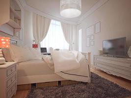 lyxigt sovrum medelhavsstil foto