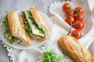 färsk smörgås foto