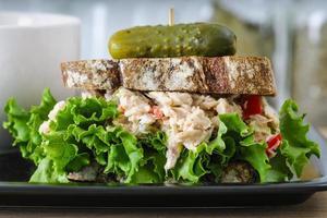 soppa och smörgås lunch special foto