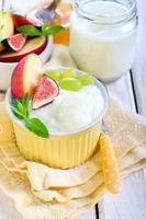 hemlagad yoghurt med frukt foto