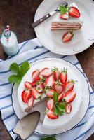 jordgubbstårta foto