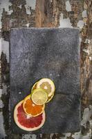 färgerna på citrusfrukter foto