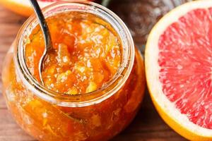 citrusfruktsylt foto