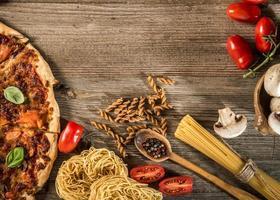 italiensk matbakgrund foto