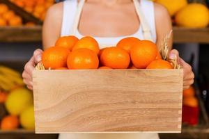de färskaste mandarinerna. foto