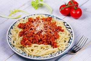 spaghetti med bolognese sås