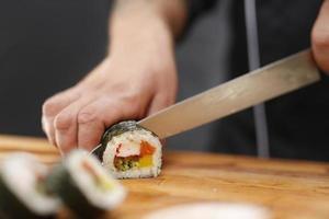 japansk restaurang, sushi foto