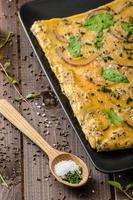 ugnsbakad omelett foto