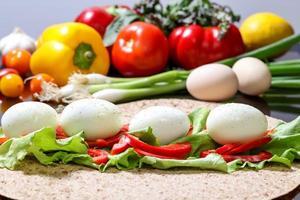 vegetarisk smörgås foto