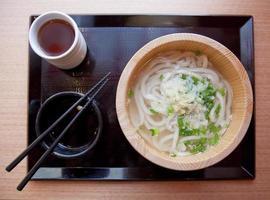 udon, japansk nudel foto