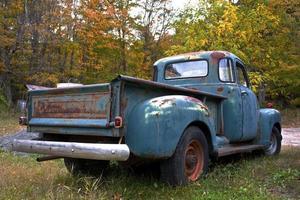 antik gård lastbil foto