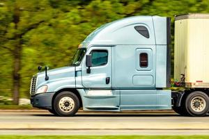 blå lastbil foto