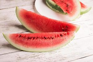 skivad vattenmelon foto