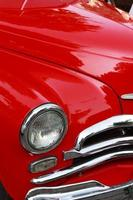 klassisk röd bil foto