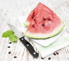 skivor vattenmelon foto