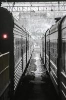 tåg i tågstationen