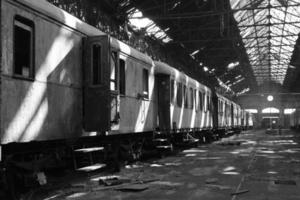 gammalt tåg foto