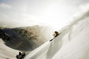 pulvervridning i Alperna foto