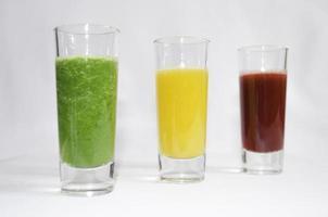 färsk hemgjord juice foto