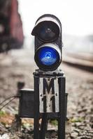 järnvägsskylt foto
