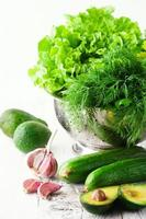 blandning av sommargrönsaker foto