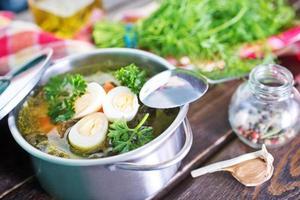 färsk soppa foto