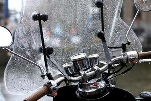 gammal vintage motorcykel