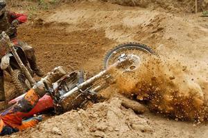 motocross krasch foto