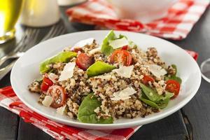 hälsosam vegetarisk quinoasallad