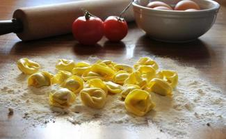 italiensk ravioli med ricotta och grönsaker