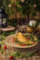 vegetarisk omelett foto