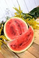 skiva vattenmelon foto