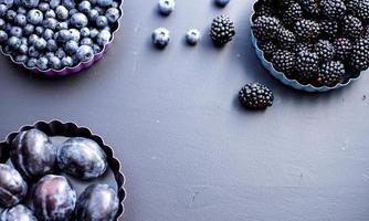blå frukt foto