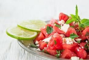 färskvattenmelon juice, hälsosam dryck. foto