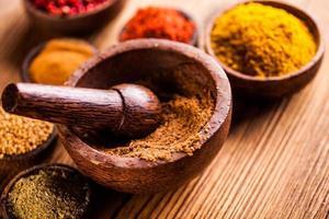 asiatisk smaksättning, orientaliskt tema med kryddor foto