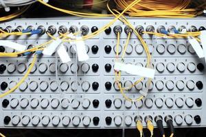 telekommunikationsutrustning, optisk multiplexor. foto