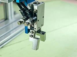 pneumatisk robotingång. foto