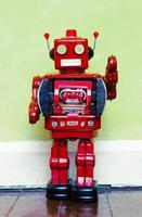röd robot foto