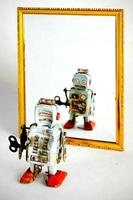 ledsen robot foto